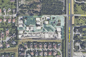 Aerial view of Oak Park Conservation Easement provided by Pillar Consultants, Davie, Florida